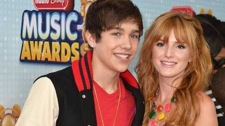 LOS ANGELES, CA - APRIL 27:  Singer Austin Mahone and actress Bella Thorne arrive to the 2013 Radio Disney Music Awards at Nokia Theatre L.A. Live on April 27, 2013 in Los Angeles, California.  (Photo by Alberto E. Rodriguez/Getty Images)