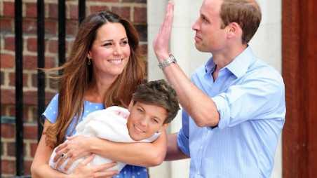 The Duke and Duchess of Cambridge depart St Marys with the royal baby