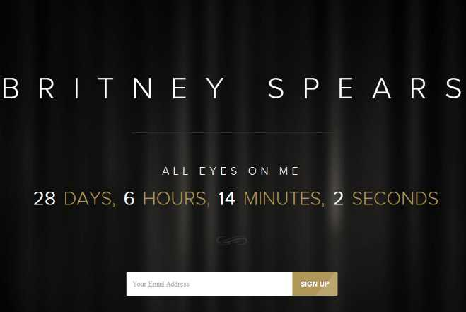 Britney Spears Countdown Feature