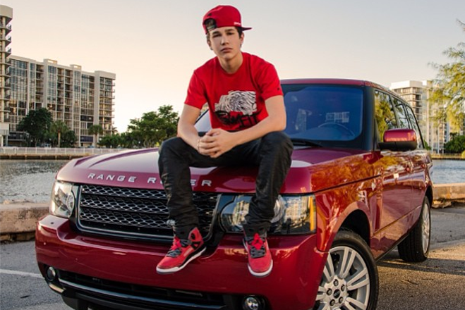 Asutin-Mahone-Birthday-Looking-Older-Car