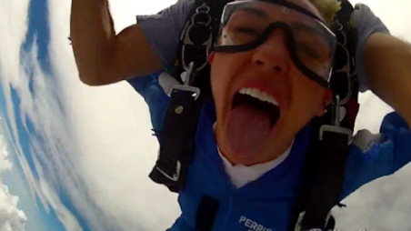 Miley Cyrus Skydiving Rolling Stone