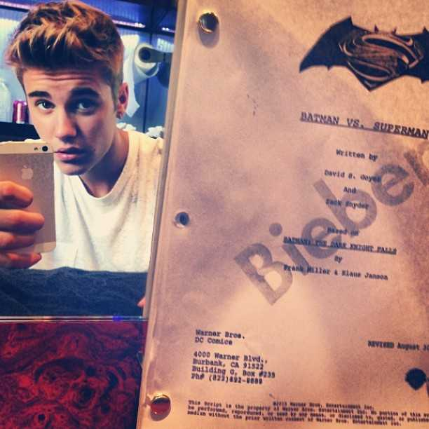 Justin Bieber Robin Batman vs. Superman