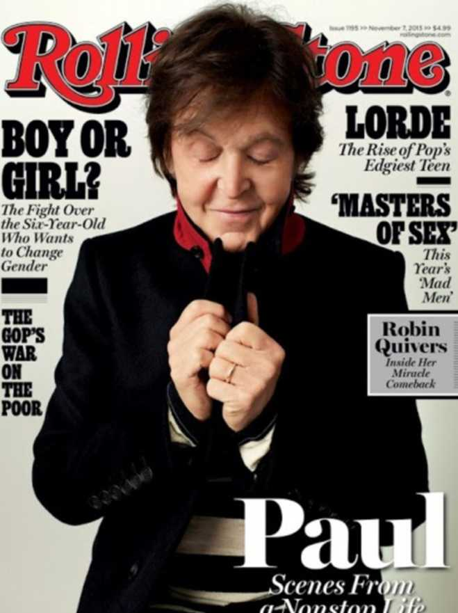 Paul McCartney Graces The Cover Of The November Issue Of Rolling Stone