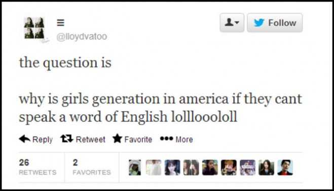 Girls Generation Racist Tweet 01