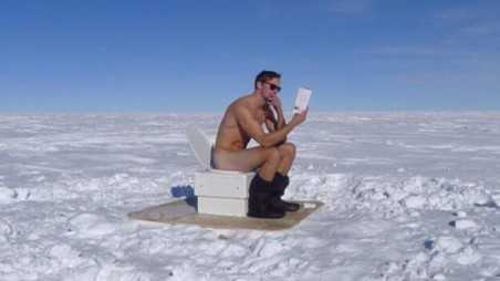 Alexander Skarsgard South Pole Toilet Photos