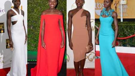 Lupita Nyongo Style Winner SAG Awards Red Carpet