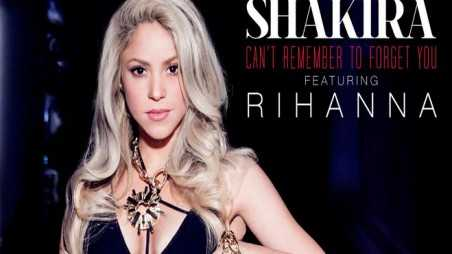 Shakira & Rihanna - Can't Remember To Forget You Single Cover Art