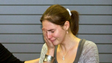 "Raffaele Sollecito has admitted he ""has some questions"" about Amanda Knox's behavior"