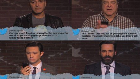 Celebrities Read Mean Tweets Video George Clooney Jimmy Kimmel