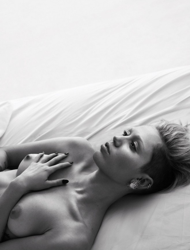 Miley Cyrus Topless W
