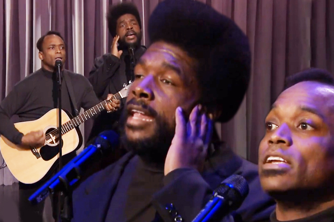 Black Simon Garfunkel Lorde Royals Video Jimmy Fallon Roots