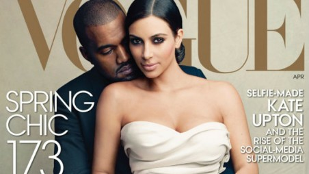 Kim Kardashian Kanye West Vogue Cover Photos Selfies Self Obsessed