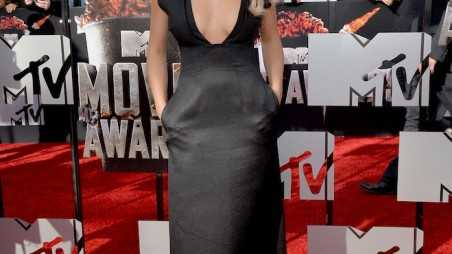 Best: Rita Ora took the plunge at the MTV Movie Awards in a dramatic Barbara Casasola gown.