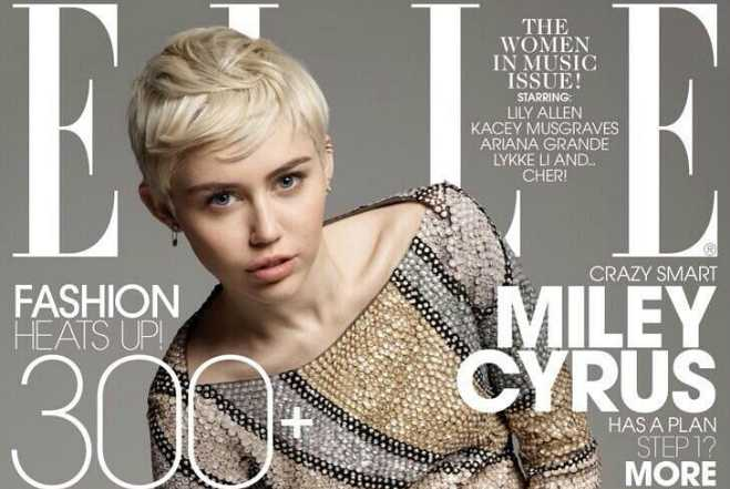 Miley Cyrus Elle Feature