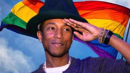 Pharrell Gay Equal rights ellen show video