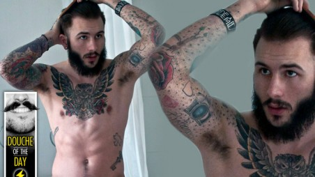 douche day photos mustaches beards tattoos hipsters preening