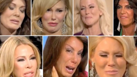 real housewives botox crying montage video plastic surgery