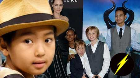 Angelina Jolie Brad Pitt Maddox Photos kids Maleficent premiere attack