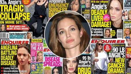 angelina jolie national enquirer weight thin starving dying lies