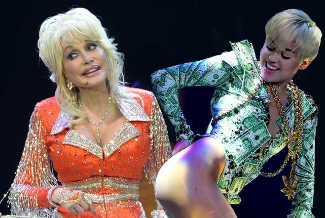 Dolly Parton Defends Miley Cyrus Trashy relationship