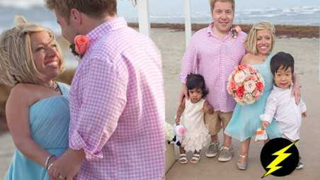 Little Couple jen Arnold bill klein wedding Vow renew Video Photos dress