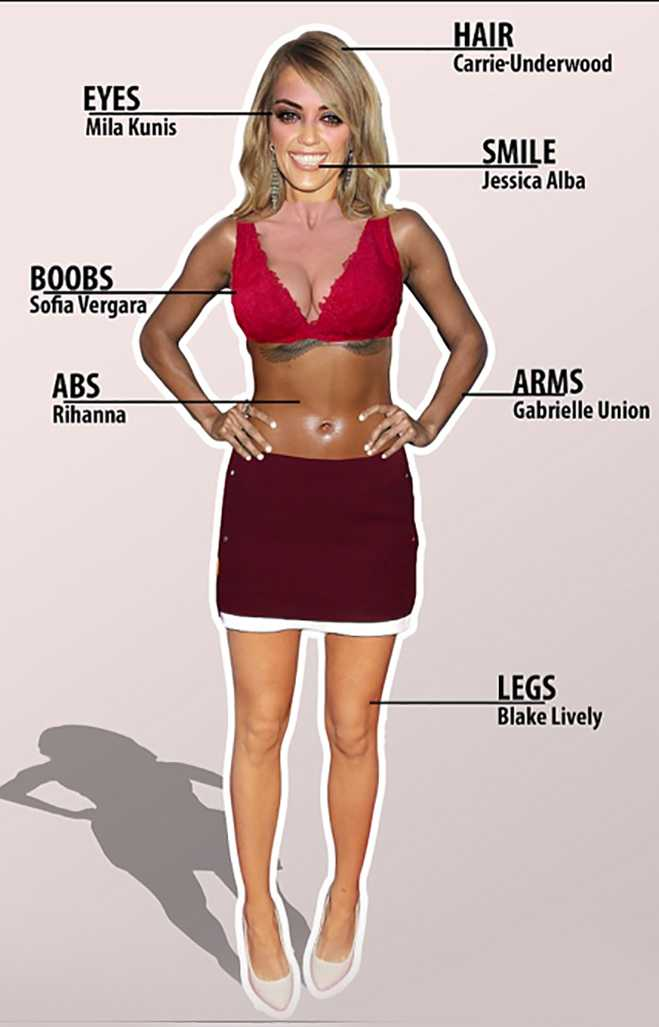 Perfect Female Celebrity Created From Stars Body Partssee Ideal
