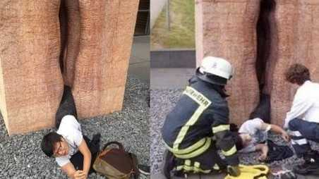 Student Stuck Giant Vagina rescued Firefighters germany