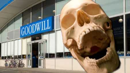 Human skull donated goodwill texas cops hunting anonymous