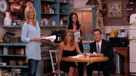 Jimmy Kimmel Friends Reunion Jennifer Aniston Courteney Cox Lisa Kudrow feature