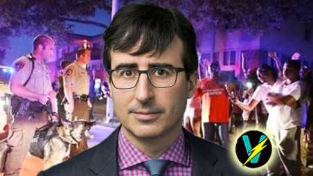 John oliver ferguson video military police civil unrest excessive force protests