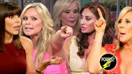 Real Housewives Orange County Reunion crazy drama screaming tears video