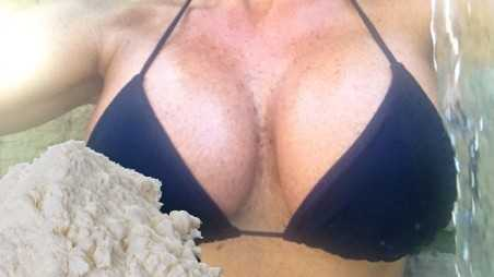 Woman busted smuggle cocaine breast implants fake tits arrested