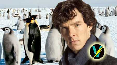 Benedict cumberbatch penguins video attempting cant say