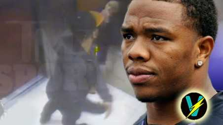 Ray Rice beats fiancee elevator video suspended NFL