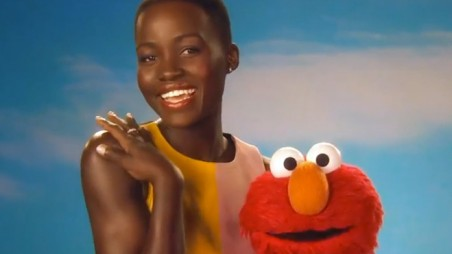 Ridiculously Cute Video Lupita Nyong'o Elmo Sesame Street Skin feature