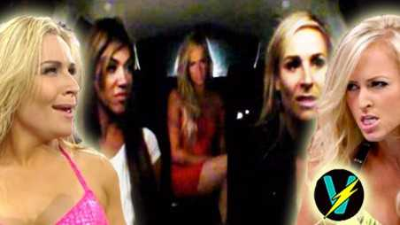 Total divas nattie summer rae fight video road trip hair pulling smackdown