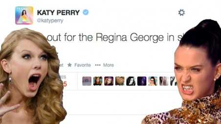 katy perry shades taylor swift mean girls tweet feud twitter fight