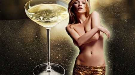 Kate Moss breast mold champagne glass