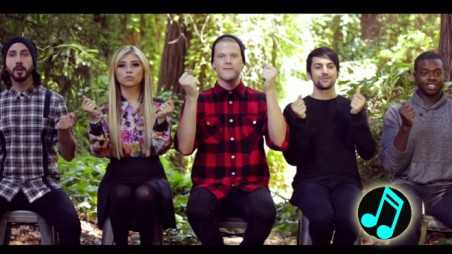 Pentatonix are tropical in white winter hymnal video watch now
