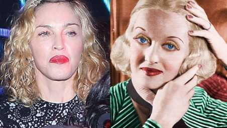 madonna aging face turning into bette davis