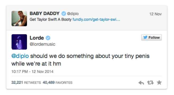 Lorde Immediately Came To The Defense Of Her Friend With This Perfect Comeback