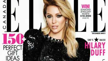 hilary duff elle cover feature