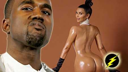 kim kardashian butt paper cover naked kanye west