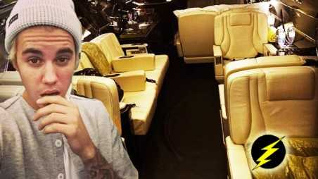 justin bieber blonde photos private jet christmas present