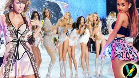 taylor swift ariana grande victorias secret 2014 video fashion show