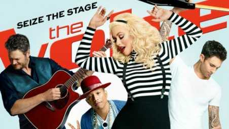 christina aguilera the voice feature