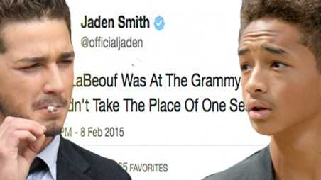 Jaden Smith Shia LaBeouf Grammys Twitter Shade