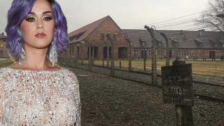 katy perry visists auschwitz