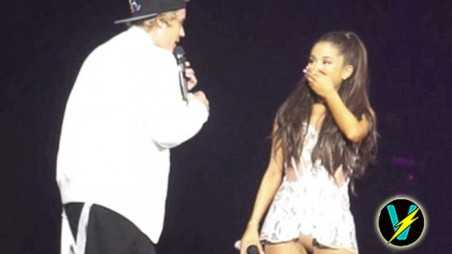 Justin Bieber Ariana Grande Forgets Words Miami Concert