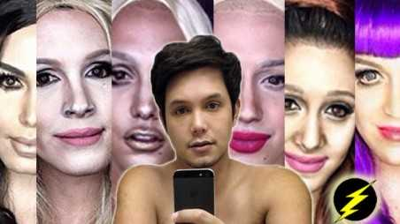 Makeup Artist Transforms Himself Celebrities Photos